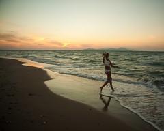 (Michad90) Tags: ocean sunset sea summer beach water bride waves kos greece