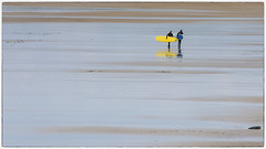 The tide is out ..... way out (Frank Fullard) Tags: ocean ireland sea people irish seascape reflection beach strand landscape sand surf clare surfer tide minimalist lahinch minamilism lehinch colol fullard frankfullard