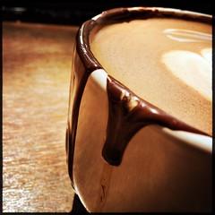 sauced (Chris Blakeley) Tags: seattle coffee cafe sauce chocolate mocha mug chocolati hipstamatic