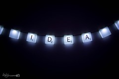 21/52 - Bright Idea (Forty-9) Tags: canon dark studio lights idea bright may scrabble leds thursday 52 lightroom brightidea playonwords 2016 week21 efs1022mmf3545usm 2152 efslens project52 eos60d rookietom tomoskay scrabblelights 522016 project522016 26thmay2016