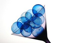 Blue Bubbles (Karen_Chappell) Tags: blue stilllife white glass ball circle triangle martini round bubble
