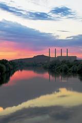 Centrale EDF de Blnod les PAM (denis.fleurot) Tags: coucherdesoleil fleuve edf moselle rflexion centralelectrique buttedemousson