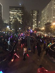 Light Battle SF 2015 (White Flour Photography) Tags: sf sanfrancisco blue light red white color colour green colors yellow night buildings lights star pier starwars san francisco purple fran led leds lightsaber wars pier39 lightsabers lightsabre clours lightsabres