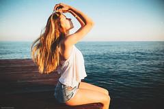 K r i s t i (Nacho Borrella) Tags: film girl beautiful beauty analog canon vintage model bokeh modeling sigma blonde pelicula carrete filmlook lookslikefilm sigma1750 vsco canon650d vscofilm