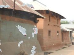 Adivasi village huts in Bolpur (kaushb) Tags: adobe adivasi santiniketan