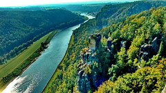 Elbe River in Saxonia (gerard eder) Tags: world travel reise viajes europa europe germany deutschland alemania saxonia sachsen sajonia rioelba riverelbe elbsandsteingebiet flus elbe bastei natur nature naturschutzgebiet schsischeschweiz outdoor landscape landschaft paisajes