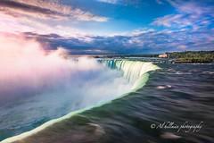 Horseshoe-6-1-F (Al Hillman) Tags: longexposure pink blue sky nature water clouds sunrise river niagarafalls purple niagara waterfalls niagarariver niagarafallascanada