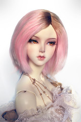 pink and caramel marshmallows (Kimirra) Tags: alpaca bjd soom commission abjd colorfulwig colorfulhair clozel abjs alpacawig angorawig kagamidesign