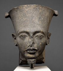Ancient Egypt. Head of the god Amun, New Kingdom, post-Amarna period, Dynasty 18, reign of Tutankhamun, c. 1336 - 1327 BC (mike catalonian) Tags: sculpture god head 18thdynasty ancientegypt amun tutankhamon newkingdom xivcenturybce 1330sbce