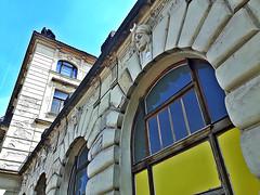 Old building of Central railway station (Hlavny nadrai) in Prague, Czech Republic. June 10, 2016 (Aris Jansons) Tags: city prague capital praha artnouveau czechrepublic oldbuilding jugendstil 2016 centralrailwaystation hlavnynadrai
