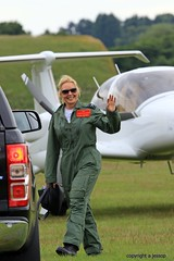 Carol Vorderman   J78A0038 (M0JRA) Tags: people flying airshow carol planes raf cosford vorderman