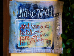 Mike Ward (Steve Taylor (Photography)) Tags: wood blue red newzealand brown lighthouse streetart black art texture leaves fashion sign yellow painting bush nelson canvas foliage upstairs precious nz advert mauve southisland wee jewels rare bit jewellry mikeward