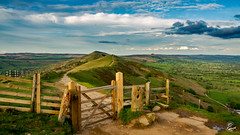 """the everyones shot of the great ridge (The """"Badger"""") Tags: badger gate fence 1755 7d canon tor mam countryside english british walking derbyshire district peak castleton ridge great"""