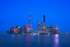 Shanghai & Blue Hour (Lus Henrique Boucault) Tags: architecture asia building cityscape longexposure modern nightlights shanghai sunrise sunset thebund tower travel traveling twinlight vacation xangai shanghaishi china cn