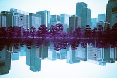 in the sky (Hodaka Yamamoto) Tags: park building film lomo lca lomography purple doubleexposure double lomolca multipleexposure negative filmcamera toyko doubles multiexposure filmphotography