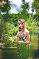 Heaven Is For Real (Steve Lundqvist) Tags: park flowers portrait plants girl yard garden backyard bokeh outdoor