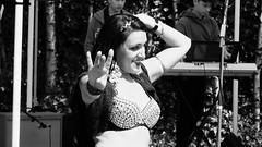 belly dancer 01 (byronv2) Tags: street summer woman sunlight sexy girl sunshine scotland canal dance costume breasts shiny edinburgh erotic dancing boobs candid bra bellydancer sunny dancer sensual bikini cleavage sparkly bellydancing peoplewatching tollcross unioncanal edimbourg fountainbridge lochrinbasin canalfestival canalfestival2016
