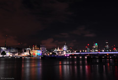 London's Burning. (HiJinKs Media...) Tags: london water thames architecture night clouds londonbridge river lights thecity bridges illuminated nightlife stpaulscathedral thethamesriver