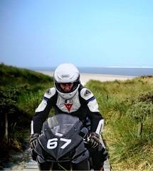 Beach driver. (driver Photographer) Tags: honda ktm triumph motorcycle yamaha driver suzuki daytona ducati motoguzzi kawasaki leathers buell aprilia simson cagiva husqvarna dainese bmv