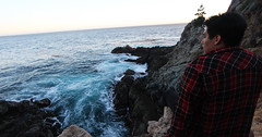 Candid Andrw (Alec (Rebel T3i)) Tags: ocean rock pose coast highway rocks mood power pacific cove candid pch partington oceanpower