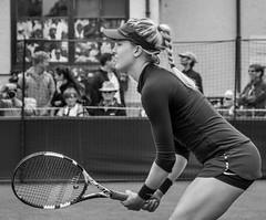 Eugenie Bouchard..............in explore (tom ballard2009) Tags: grass sport sussex mono blackwhite women lawn tennis eastbourne racket eugenie wta lta bouchard devonshirepark
