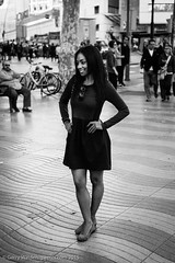 The Pose (gwpics) Tags: barcelona people blackandwhite bw woman monochrome lady female person mono blackwhite spain women streetphotography lifestyle catalonia spanish society catalonya socialdocumentary socialcomment streetpics strasenfotograpfie