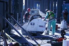 Crews cut through concrete connecting pontoons (WSDOT) Tags: wsdot sr 520 sr520floatingbridge sr520bridgereplacementandhovprogram pontoons evergreen point floating bridge