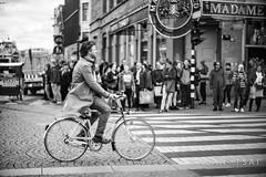 Gentle cyclists (Alan Dreamworks) Tags: street leica blackandwhite netherlands monochrome bike cyclist streetphotography f1 getty noctilux bnw leicam