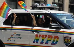 Pride NYPD (EC Stainsby) Tags: street nyc newyorkcity summer usa ny newyork fun outdoor colorfull pride parade east lgbt avenue fifth thirtieth colourfull sunnny