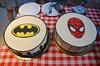 Superhero Cakes At The Rehearsal Dinner (Joe Shlabotnik) Tags: batman spiderman 2016 cake july2016 afsdxvrzoomnikkor18105mmf3556ged