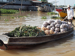 Market Place (MarcelineAT93) Tags: travel fruits river boat asia market floating vietnam mekong