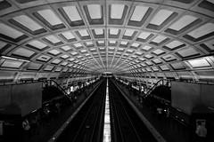 Subway - Washington DC (Olympe T.) Tags: urban blackandwhite usa lines subway town washington noiretblanc metro urbanism ville urbanisme