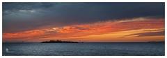 King Island at sunset (pbaddz) Tags: sunset panorama water clouds australia queensland kingisland moretonbay wellingtonpoint