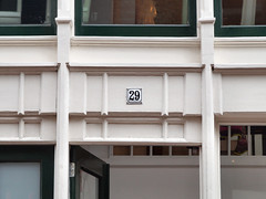 Week 29 (d_t_vos) Tags: door wood abstract reflection window netherlands amsterdam sign architecture buildings calendar symbol 26 outdoor character text number week shield weeks address windowframe doorframe twentysix housenumber 2016 streetnumber nieuwehoogstraat dickvos 29frame weeknumber dtvos numericcharacter weeknumberproject
