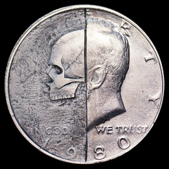 Kennedy Half Skull (Seth Basista Engraving) Tags: ohio macro love dead death skull carved seth coin nikon hand air lindsay engraving dollar half nickel token hobo kennedy engraved sculpted youngstown engrave graver austintown basista mahoning