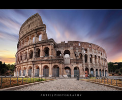 Sunrise at the Colosseum, Rome, Italy :: HDR +  0.6 ND Pro Glass Lee Filter (Artie | Photography :: I'm a lazy boy :)) Tags: italy rome architecture photoshop sunrise canon ancient roman forum tripod amphitheatre engineering wideangle medieval structure colosseum lee empire imperial coliseum filters 06 iconic ef 1740mm f4 hdr manfrotto artie cs3 flavianamphitheatre 3xp gnd photomatix tonemapping tonemap 5dmarkii 5dm2