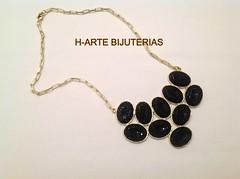 Maxi colar preto caviar (H-ARTE BIJUTERIAS (31)9993-9804) Tags: colar maxi bijuterias maxicolarpedrascorrentes
