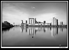 quays_long_exp1 (The_Jon_M) Tags: uk england urban bw manchester salfordquays april greater salford lowry greatermanchester 2013