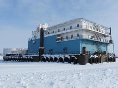 Frozen in the ice on the Mackenzie River (jimbob_malone) Tags: northwestterritories inuvik 2013 mackenzieiceroads