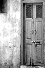 (Divs Sejpal) Tags: life door old city people bw india blur macro wall writing graffiti closed dof details ahmedabad d800 iloveu divs divyesh tamron180mmf35macro divssejpal sejpal