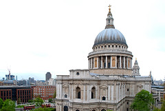 StPaulsCathedral 180 E W (laurencemackman) Tags: england london architecture modern walk towers christopherwren c20 stpaulscathedral cityoflondon financialcentre chrisrogers twentiethcenturysociety c20society onenewchange ianmcinnes newmembersevent previousevents