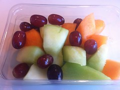 Lunch - May 17 - melon and grapes (Two Fat Laddies) Tags: food fruit blog healthy meals meal grapes diet melon weightloss weight dieting twofatladdies uploaded:by=flickrmobile flickriosapp:filter=nofilter