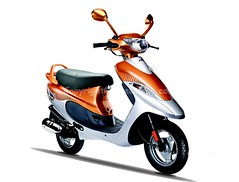 Tvs Scooty Pep Plus ( front-view ) (girnar1) Tags: bike plus tvs pep frontview scooty