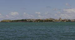View From Catano - Old San Juan (rschnaible) Tags: world ocean old sea heritage de puerto bay harbor site san cityscape juan unesco rico bahia caribbean