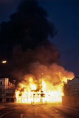 Reeves Corner Ablaze, Croydon, Aug 8, 2011. (Jendella) Tags: summer london fire streetphotography riots southlondon croydon