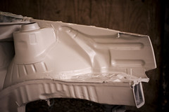 Bay primer (JoeMallett) Tags: vw golf volkswagen bay conversion low smooth shaved engine swap mk2 gti slammed mkii stance vr6 shavedbay smoothbay