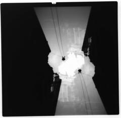 [La Mia Citt] piazza XXV Aprile (Urca) Tags: blackandwhite bw 120 mediumformat square holga lomo italia doubleexposure milano bn biancoenero doppiaesposizione analogico 2013