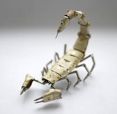 Clockwork Scorpion No 6 (A Mechanical Mind) Tags: sculpture bug mantis insect skeleton