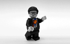 Black, White, and Super (Joel.Baker) Tags: desktop poster kent baker lego screensaver joel clark minifigure