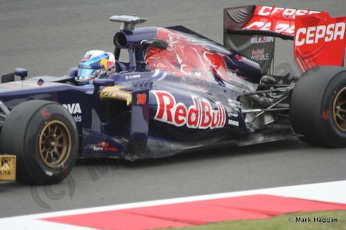 Jean-Eric Vergne in Free Practice 2 at the 2013 British Grand Prix